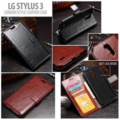 * LG Stylus 3 - London Style Leather Case }