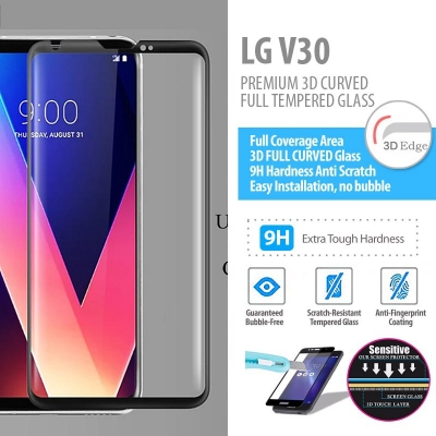 ^ LG V30 - PREMIUM 3D Curved Full Tempered Glass 2nd version