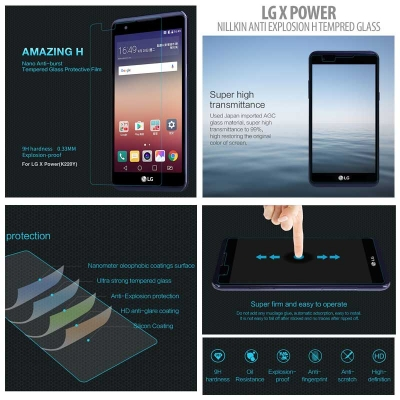 ^ LG X Power - Nillkin Anti-Explosion H Tempered Glass Screen Protector