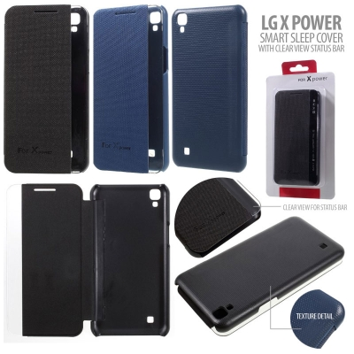 * LG X Power - Smart Sleep Cover with Clear View Status Bar