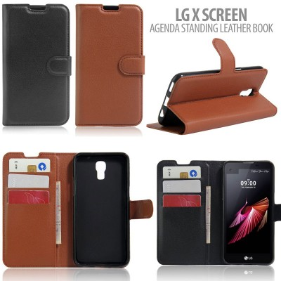 * LG X Screen - Agenda Standing Leather Book