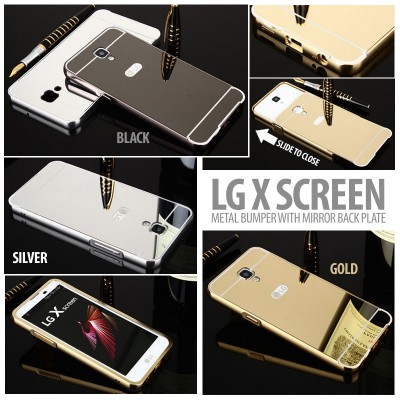 ^ LG X Screen - Metal Bumper With Mirror Back Plate }