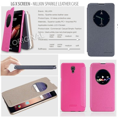 ^ LG X Screen - Nillkin Sparkle Leather Case