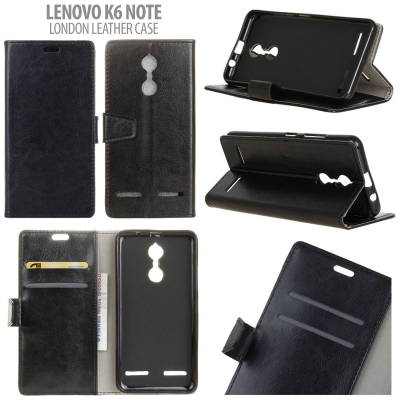 * Lenovo K6 Note - London Style Leather Case }