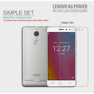 ^ Lenovo K6 Power - Nillkin Clear Screen Guard }