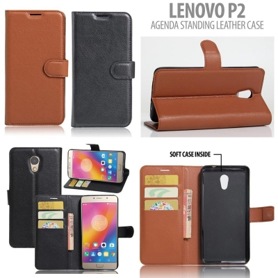 * Lenovo P2 - Agenda Standing Leather Book }