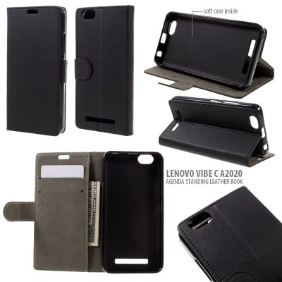* Lenovo Vibe C A2020 - Agenda Standing Leather Book