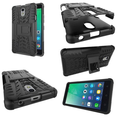 ^ Lenovo Vibe P1m - Heavy Duty Rugged Armor Stand Case }