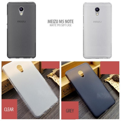^ Meizu M5 Note - Matte TPU Soft Case }