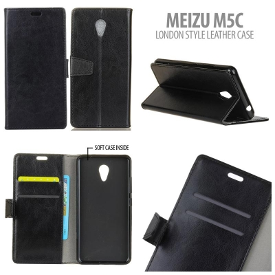 * Meizu M5C - London Style Leather Case }