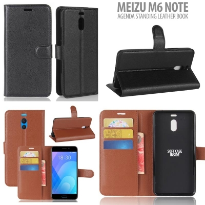 * Meizu M6 Note - Agenda Standing Leather Book }