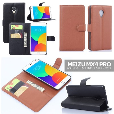 * Meizu MX4 Pro - Agenda Standing Leather Book