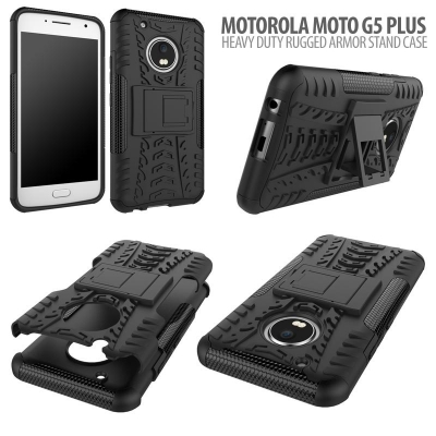 ^ Motorola Moto G5 Plus - Heavy Duty Rugged Armor Stand Case