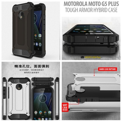 ^ Motorola Moto G5 Plus - Tough Armor Hybrid Case }