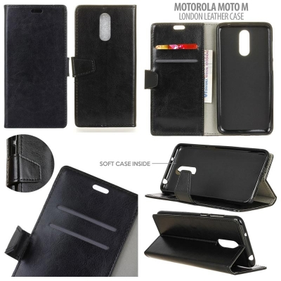 * Motorola Moto M - London Style Leather Case }