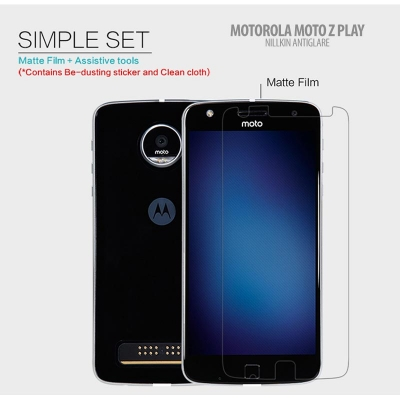 ^ Motorola Moto Z Play - Nillkin Antiglare Screen Guard }