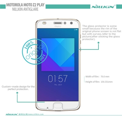 ^ Motorola Moto Z2 Play - Nillkin Antiglare Screen Guard }