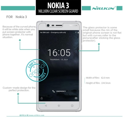 ^ Nokia 3 - Nillkin Clear Screen Guard }
