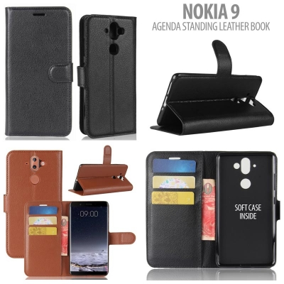 * Nokia 9 - Agenda Standing Leather Book }