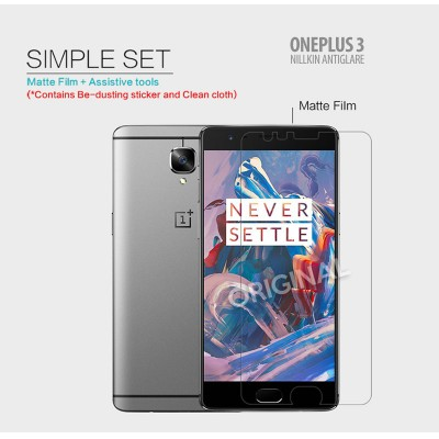 ^ Oneplus 3 - Nillkin Antiglare Screen Guard }