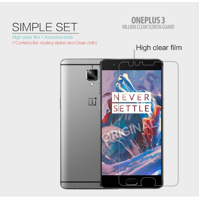 ^ Oneplus 3 - Nillkin Clear Screen Guard }