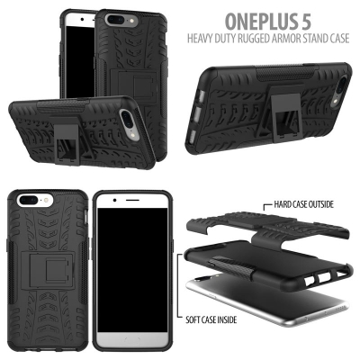 ^ Oneplus 5 - Heavy Duty Rugged Armor Stand Case }
