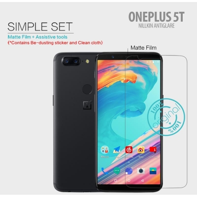 ^ Oneplus 5T - Nillkin Antiglare Screen Guard }
