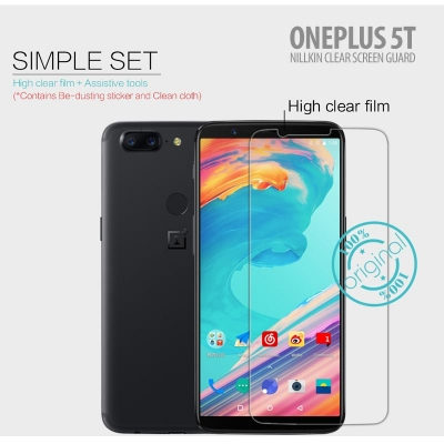 ^ Oneplus 5T - Nillkin Clear Screen Guard }