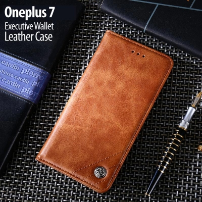 ^ Oneplus 7 - Executive Wallet Leather Case