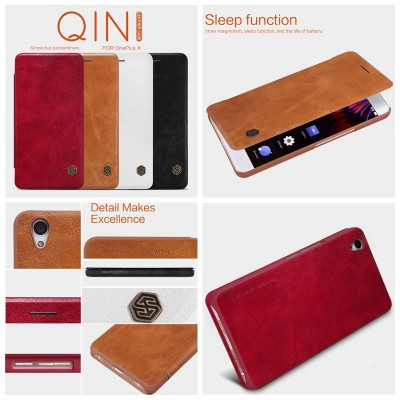 ^ OnePlus X - Nillkin Qin Leather Case