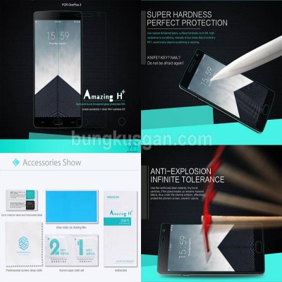 ^ OnePlus Two - Nillkin Anti-Explosion H Plus Tempered Glass Screen Protector