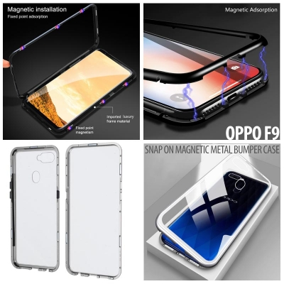 ^ Oppo F9 - Snap On Magnetic Metal Bumper Case
