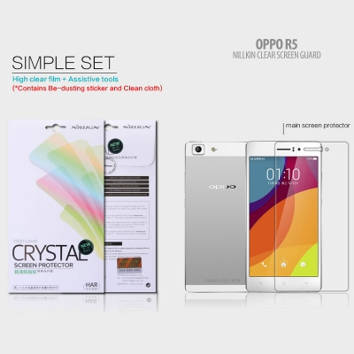 ^ Oppo R5 - Nillkin Clear Screen Guard