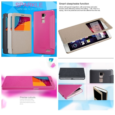 ^ Oppo R7 Plus - Nillkin Sparkle Leather Case