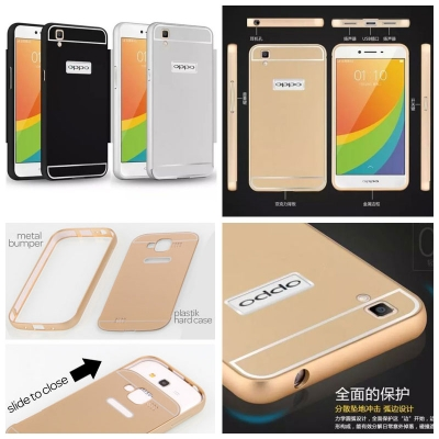 ^ Oppo R7S - Metal Slide Hard Case
