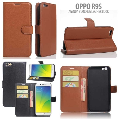 * Oppo R9S - Agenda Standing Leather Book