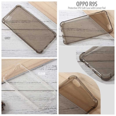 * Oppo R9s - Protective TPU Soft Case with Corner Pad