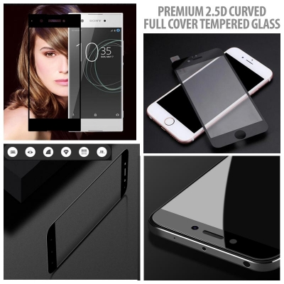 ^ Meizu Pro 6 - Premium 2.5D Curved Full Cover Tempered Glass
