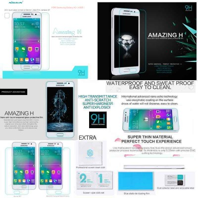 ^ Samsung Galaxy A3 A300 - Nillkin Anti-Explosion H Tempered Glass Screen Protector