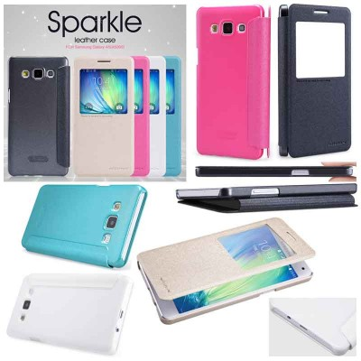 ^ Samsung Galaxy A5 - Nillkin Sparkle Leather Case