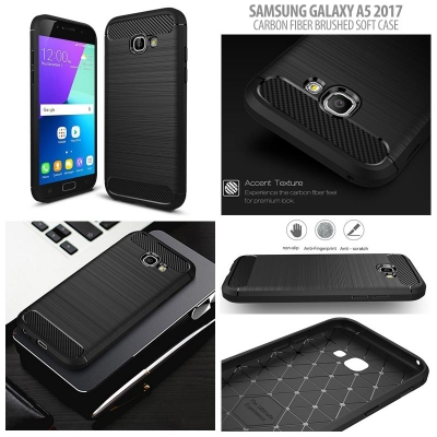 ^ Samsung Galaxy A5 2017 A520F - PREMIUM Carbon Fiber Brushed Soft Case