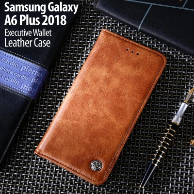 ^ Samsung Galaxy A6 Plus 2018 - Executive Wallet Leather Case
