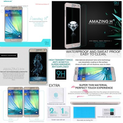 ^ Samsung Galaxy A7 - Nillkin Anti-Explosion H Plus Tempered Glass Screen Protector
