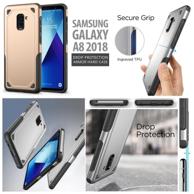 * Samsung Galaxy A8 2018 - Drop Protection Armor Hard Case }
