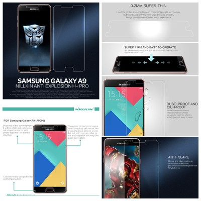^ Samsung Galaxy A9 Pro 2016 A910 - Nillkin Anti-Explosion H Plus Pro Tempered Glass Screen Protector