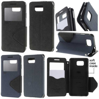 ^ Samsung Galaxy Alpha G850 - Roar Window Leather Case