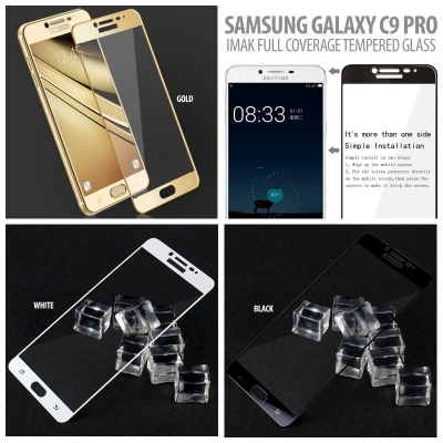 ^ Samsung Galaxy C9 Pro - Imak Full Coverage Tempered Glass }