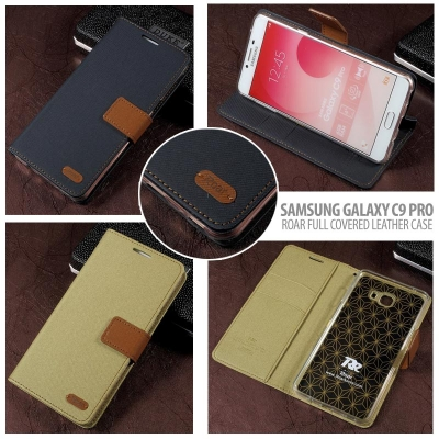 ^ Samsung Galaxy C9 Pro - Roar Full Covered Leather Case }