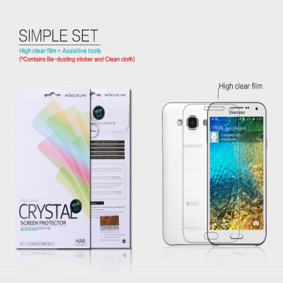 ^ Samsung Galaxy E5 - Nillkin Clear Screen Guard