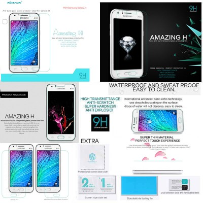^ Samsung Galaxy J1 - Nillkin Anti-Explosion H Tempered Glass Screen Protector